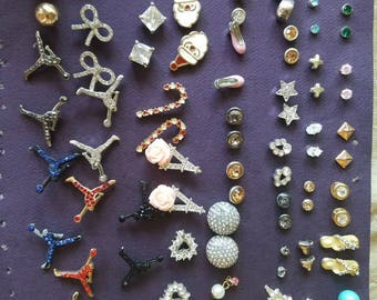 59 pair of vintage stud earrings