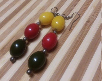 Yellow, Red, Green Pride Earrings
