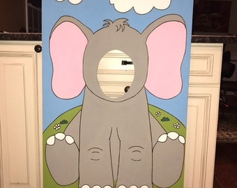 Elephant Party-Face In The Hole-Elephant Birthday-Elephant Party-Elephant Photo Op-Elephant Photo Booth-Elephant Decorations