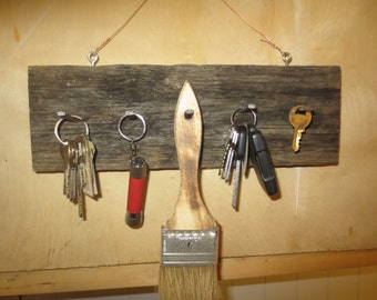 Vintage Barn Board Key Holder