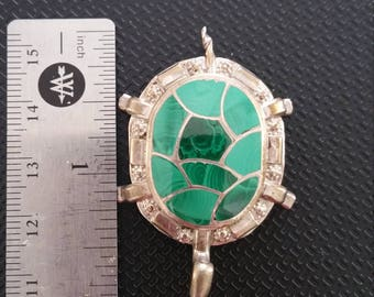 Sterling Silver Turtle Pendant or Brooch