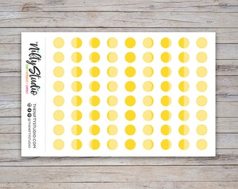 Moon Phases Stickers   Lunar Stickers   Planner Stickers   The Nifty Studio [180]
