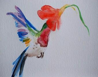 Original Hummingbird Watercolour