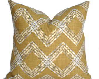 One Mustard Yellow pillow cover, cushion, decorative throw pillow,  Yellow pillow, accent pillow, Dot pillow case
