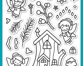 Frosty Fairy Friends by Lawn Fawn - A Clear Photopolymer Stamp