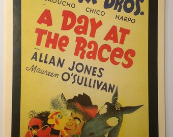 A Day at the Races Marx Brothers Vintage Movie Poster Print Reproduction