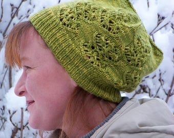 "Strickanleitung / knitting pattern Winter Hat, Hat ""Thallus"" Instand Download"