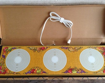 Unused Vintage Party Hostess Warm O tray 3 spot Warmer Plate By Atlantic Precision Works 1970s