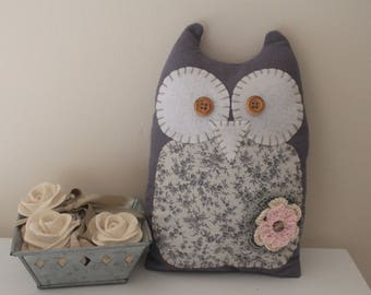 OWL Owlie-Mumy grey felt and liberty