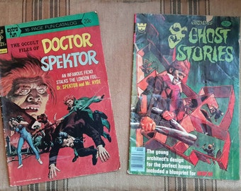 Doctor Spektor and Grimm's Ghost Stories Comic Books Scary Illustrated for Adults and Kids
