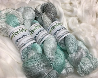 Pure Silver and Bamboo Yarn Winter's Ice