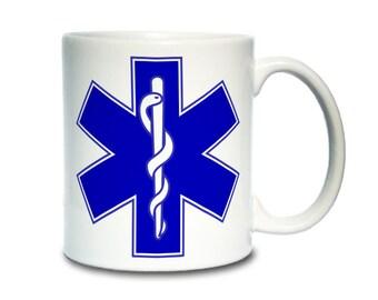 Coffee Mug; Star Of Life Medic Symbol