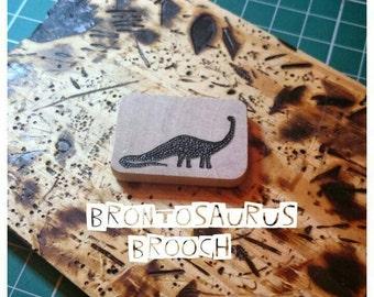 Brontosaurus Brooch, Dinosaur Brooch