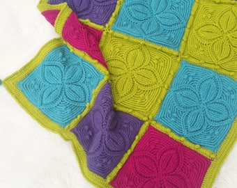 Pacific Petals Crochet Square Pattern - The Little Bee - Instant Download