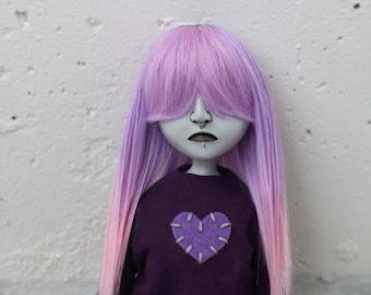"16"" posable OOAK sad doll Delilah (goth, emo, horror, creepy, cute)"