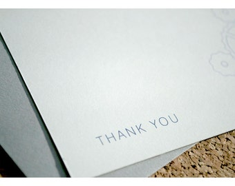 Flat Note Thank You Stationery Set with Gears