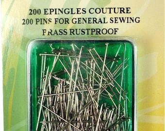 Sewing pins - 200 sewing pins - 47501 pins