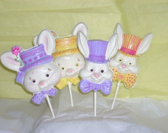 4 Chocolate Easter Parade Bunny Lollipops extra large