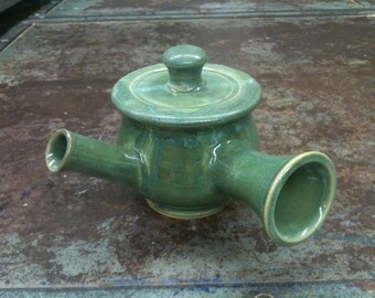 Personal Teapot in Vareigated Green 16 oz