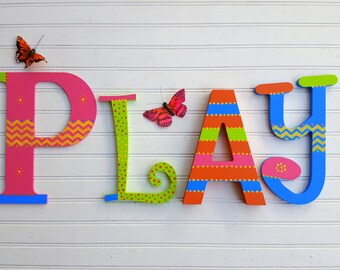 Kids Name Letters - Mixed Font Letters - Fun Wall Letters - Boy Name Letters - Girl Name Letters - Baby Name