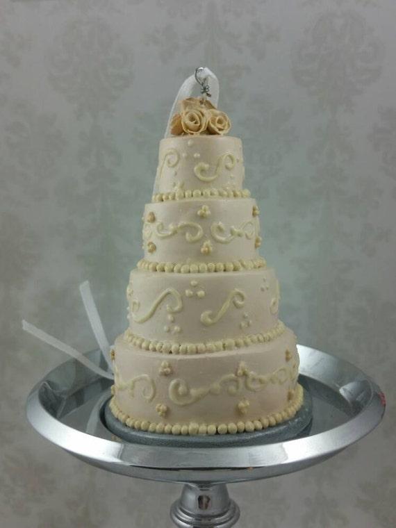 Wedding Cake Mini Replica Custom Ornament Replica Cake