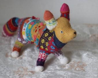 Stuffed Animal/Stuffed Animal Fox/Stuffed Toy/Knitted Animal/Knitted fox/Knitted Toy/Gift Fox/Collectable Toy Gift/Fox Toy Gift/Stuffed fox