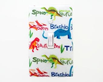Dinosaur Light Switch Cover - Dinosaurs Switch Plate - Boys Dinosaur Bedroom - Dinosaur Decor
