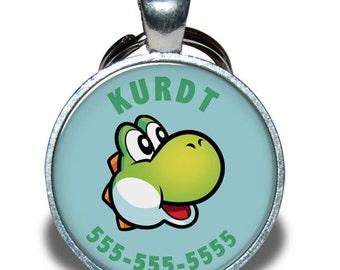 Pet ID Tag - Yoshi Nintendo *Inspired* - Dog tag, Cat Tag, Pet Tag