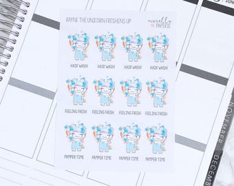 Rayne the Unicorn Freshens Up | Tales of Rayne the Unicorn | Planner Stickers