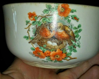 Vintage Little Bowl with Robins ~ Ransom