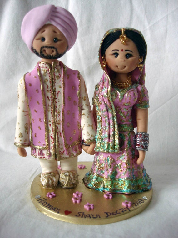 indian wedding cake toppers bride and groom uk personalised asian indian sikh hindu muslim 16425