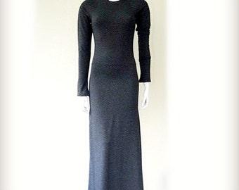 Long  dress, organic cotton maxi dress, very long dress, organic tunic dress, handmade organic clothes shop