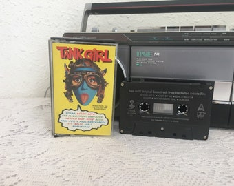 TANK GIRL soundtrack, Tank Girl Movie, vintage cassette tape, music cassette