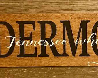 Custom Name, Wedding song and Est. date wood sign