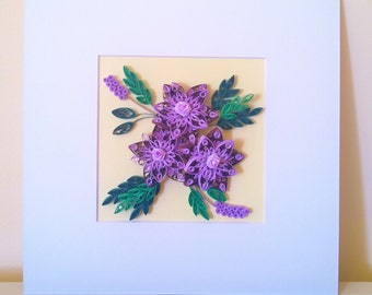 Paper quilling art/Paper quilling picture/Flowers quilling art/Handmade quilling art
