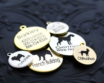 Personalized Breed Dog ID Tags