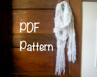 PATTERN: Feather Swan Scarf, easy crochet PDF email, black swan, fall autumn, natural cream white, InStAnT DoWnLoAd, Permission to Sell