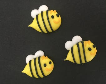 Bees, royal icing, 10 pieces