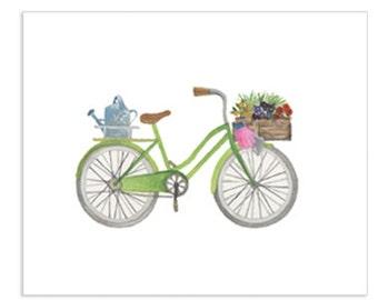 Bicycle Series - Spring Bicycle Art Print