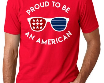 Proud to be an American   Men's Tee