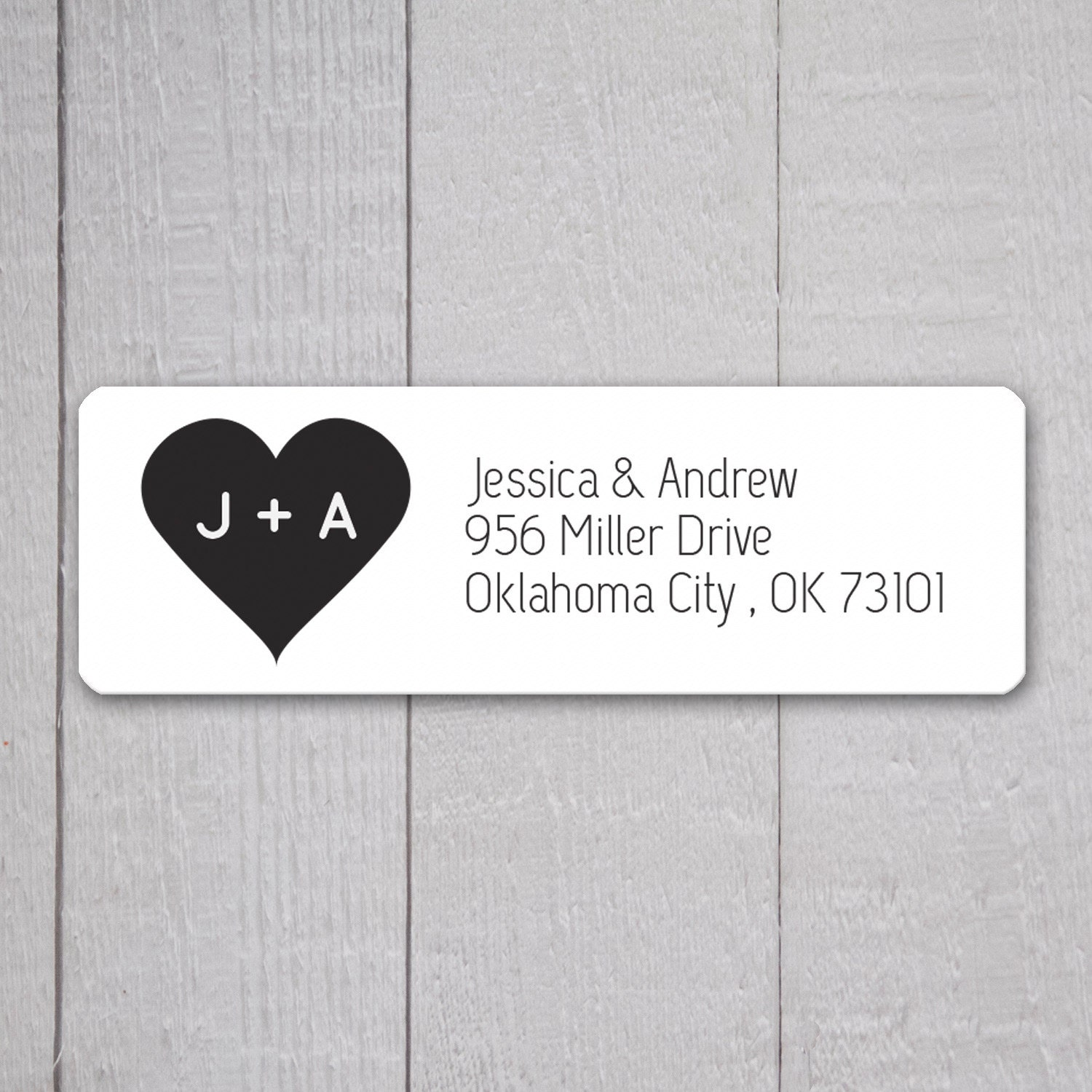 This listing is for a set of personalized return address stickers. All Orange Umbrella Co. stickers have advanced digital printing using a high-quality 5 color