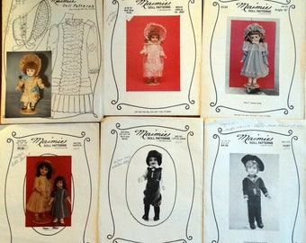 22 Doll Clothes Patterns - Maimie Doll Patterns by Mae Didlake from the 1980's