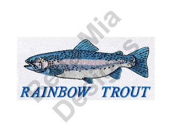 Fish - Machine Embroidery Design, Trout, Rainbow Trout