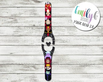 Villains Magic Band 1.0 or 2.0 Decal or Skin | Adult and Child Size Waterproof Custom MagicBand Wrap | RTS Ready To Ship