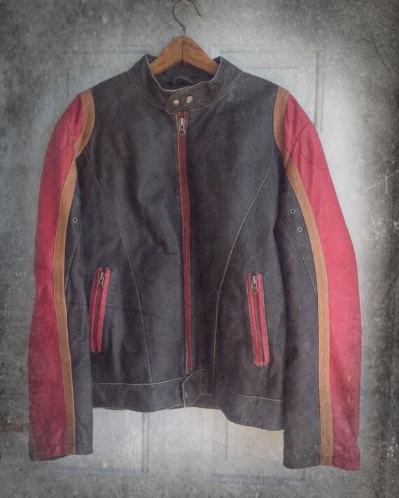 Brown leather jacket ,Men leather jacket ANGELO LITRICO, Leather jacket vintage 90's,