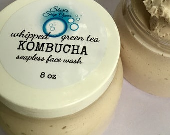 "Matcha Green Tea or NEW KOMBUCHA Tea-Cleansing  Cream-A Soapless Alternative-Great for ""Problem Skin"""