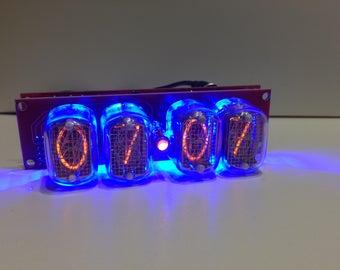 Nixie tube clock IN-12 Blue