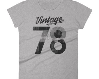 40th Birthday Gifts For Women's - Gift for women's - Vintage 1978 Shirt - 40th Birthday Shirt - 40th Birthday Graphic Tee - 40th Birthday