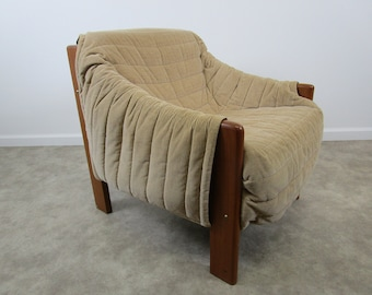 Mid century modern Domino Mobler teak danish side lounge chair