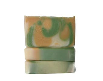 Pineapple Cilantro Bar Soap - Handmade in Kentucky Artisan Soap - Limited Edition - Tropical Scent - Body Soap - Vegan Soap